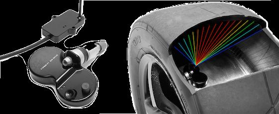 measure racing car tyre temperature ir interernal system