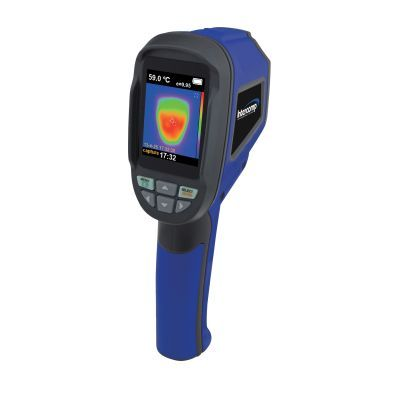 Measuring Racing Car Tyre Temperatures handheld IR surface image